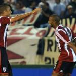 Trezeguet debutó con gol en River