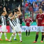 Milan y Juventus jugarán contra equipos accesibles para ver quién es primero