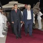 Mujica repasa acuerdos bilaterales con el vicepresidente de Venezuela Elías Jaua