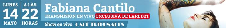 Fabiana Cantilo en vivo este lunes!