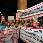 """Más de mil """"indignados"""" por la violencia protestaron frente a Torre Ejecutiva"""