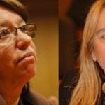"""Dos de los """"grandes"""" en la liza política uruguaya estarán presididos por mujeres: Mónica Xavier (FA) y Martha Montaner (PC)"""