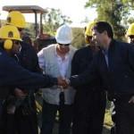 Raúl Sendic presenció la primera perforación en la localidad de Pepe Núñez tras firmes indicios de petróleo