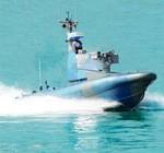 Israel presentó un barco militar no tripulado con cañones y ametralladoras