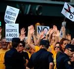 Siguen manifestaciones y amenazas de huelga en España contra los recortes