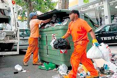 Recolectores de basura en Montevideo, Uruguay
