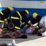 Simulacro de desastre en pleno Centro de Montevideo