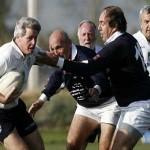 Uruguayos sobrevivientes de Los Andes juegan partido de rugby en Santiago de Chile