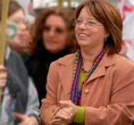 """Presidenta del FA """"demuele"""" a su par del Partido Colorado"""