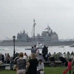 Chocan submarino nuclear y crucero de misiles en EE.UU.