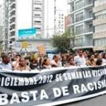 Miles marcharon contra el racismo: hay orden de captura para agresoras de Tania