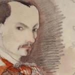 Hallan autorretrato inédito del célebre poeta francés Charles Baudelaire