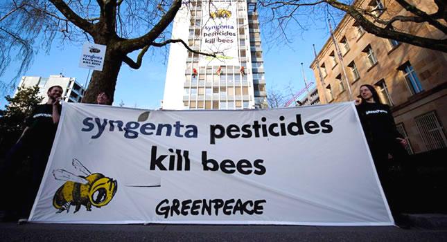 Protesta de Greenpeace en Suiza