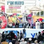 1° de Mayo 2013 en Uruguay: acto central del PIT-CNT por el Día Internacional de los Trabajadores