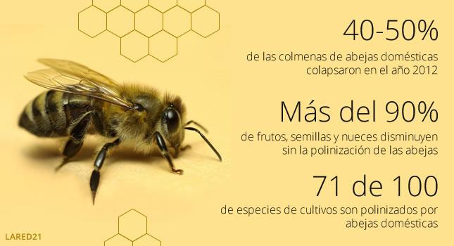 Datos estadísticos sobre la importancia de la abeja en la polinización