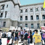 Movilización en apoyo a la convocatoria popular contra Ley de aborto