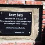 Recuerdan al militante Álvaro Balbi, en la plaza que lleva su nombre en Lezica