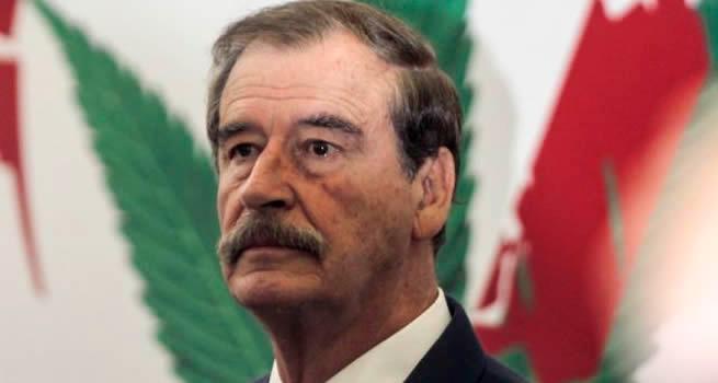 Vicente Fox, expresidente de México en campaña a favor de la marihuana