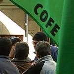 Funcionarios públicos paran y se concentran frente al Ministerio de Trabajo
