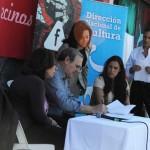 Ministro Ehrlich y Ana Olivera participaron del acto de inauguración de la usina cultural de Bella Italia