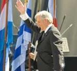 Vázquez en primer acto público desde que aceptó ser candidato a la Presidencia