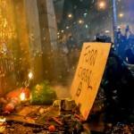 Brasil: células anarquistas vandalizan en centro de Rio tras multitudinaria marcha de maestros