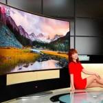 Samsung y LG presentan televisores curvos de 105 pulgadas y 11 millones de píxeles