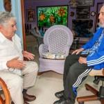 Mujica y Fidel Castro coincidieron en profundizar la lucha por la paz, el bienestar y la supervivencia de la humanidad