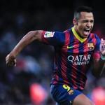 Barcelona goleó 4-0 a Elche con 'triplete' de Alexis y recupera el liderato