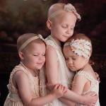 Una foto, tres niñas: campaña viral sobre el cáncer infantil