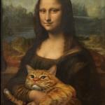 Artista rusa sustituye personajes de obras maestras con un gato y se consagra