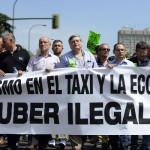 """Miles de taxistas en Europa se manifestaron contra """"Uber"""", un sistema de transporte alternativo"""