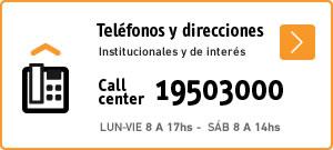 Call center y teléfonos útiles