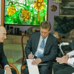 Reaparece Fidel Castro con Putin analizando agricultura y cambio climático
