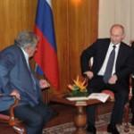 Mujica enseñó a Putin mapa de América y dijo que Uruguay está en una gran esquina
