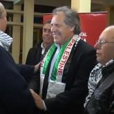 Reunión de Almagro con árabes del Chuy y la bufanda palestina que recibió generan críticas