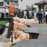 Fuertes lluvias arrasan en Japón