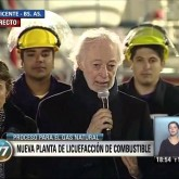Buquebus inauguró la primera planta de gas licuado para Sudamérica