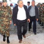 Mujica visitó el calabozo del Batallón de Infantería Nº11 donde estuvo preso en dictadura