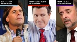 Habrá debate presidencial entre los candidatos Lacalle Pou, Bordaberry y Mieres