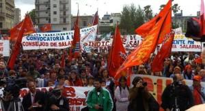 Paro general parcial del PIT-CNT y concentración en 18 de Julio y Andes