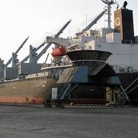 Llegó a Punta Pereira en Conchillas la primera carga de madera por vía fluvial
