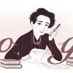 Doodle de Google rinde homenaje a los 108 años del nacimiento de Hannah Arendt