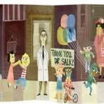 Doodle de Google en el centenario de Jonas Salk que descubrió la vacuna contra la poliomielitis