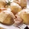 Agnolotis de calabaza y queso crema con salsa carusso