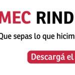 MEC Rinde Cuentas: Educación de calidad para todos, para toda la vida