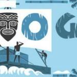Doodle de Google a Thor Eyerdahl que cruzó el Pacífico en una balsa de troncos