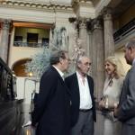 """Autoridades del MEC visitaron instalaciones de la 2ª Bienal de Montevideo denominada """"500 años de futuro""""."""