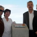 Autoridades nacionales y departamentales colocan la piedra fundamental del puente sobre la laguna Garzón