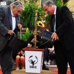 Mujica y líderes religiosos plantaron olivo de la paz en el marco del proyecto SCHOLAS del Vaticano